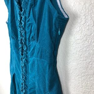 Anthropologie Dresses - Anthropologie Maeve Teal Corduroy Dress Size 6